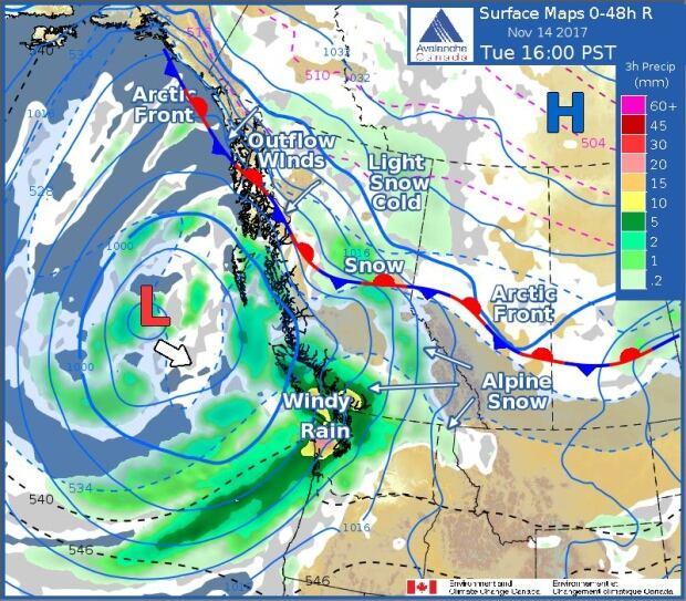 Wind warning Environment Canada