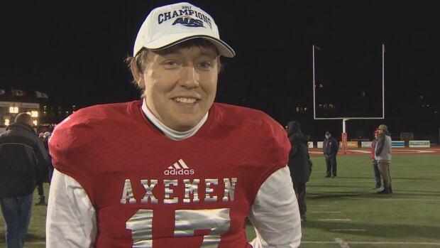 Acadia University quarterback Cody Cluett.