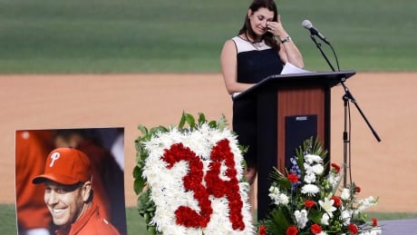 Roy Halladay celebrated as a friend, father who happened to be a great pitcher