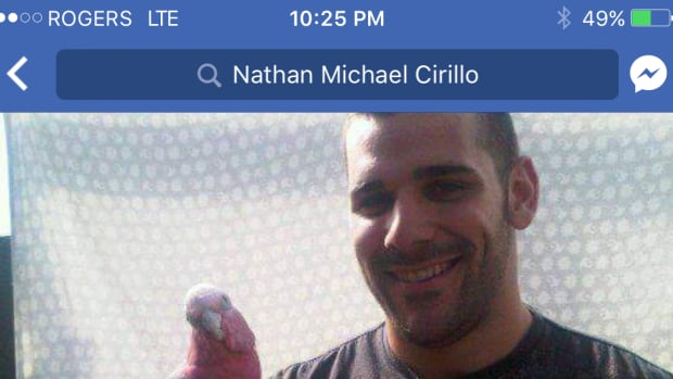 A screen grab of the now deleted Facebook account using the likeness of slain Canadian soldier Nathan Cirillo to entrap women.