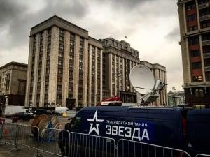 News truck in Russia