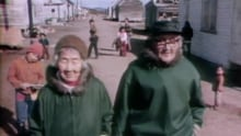 Martin Martin walks with his wife in Nain