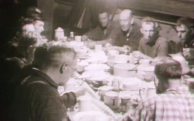 Dinner aboard a Grand Bank schooner