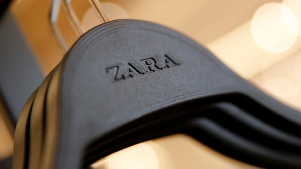 The Zara logo is seen on a clothes hanger in one of its stores. Shoppers in Istanbul discovered notes in clothing saying workers had not been paid at the Bravo Tekstil factory in Turkey, according to widespread media reports this month.