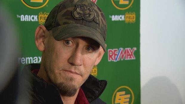 Eskimos head coach talks to media on Wednesday