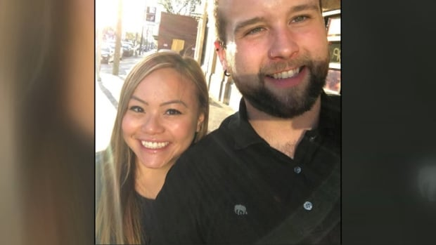 Abbey Amisola, 27, died while travelling in Cambodia, her family confirms. She's seen here with Dustin Brooks, a close friend who said Abbey and their friend group were like family.