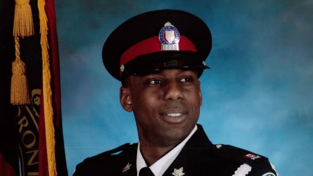 Const. Michael Thompson was found in his home in medical distress on April 10, police say.