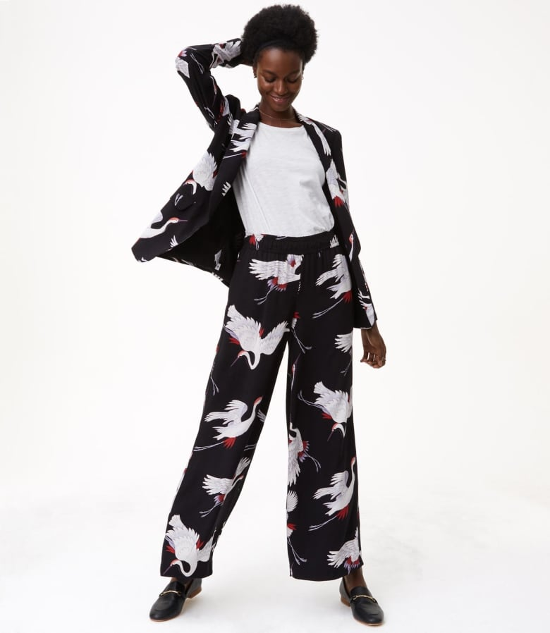 c4afdcc3ad Stand out – but stay comfortable – in clashing prints. Loose-fitting,  printed pants play on the pyjama dressing trend that's still going strong  for fall.