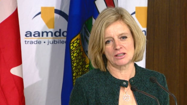 Premier Rachel Notley signaled a new direction for her government spending at a speech in Edmonton Thursday.