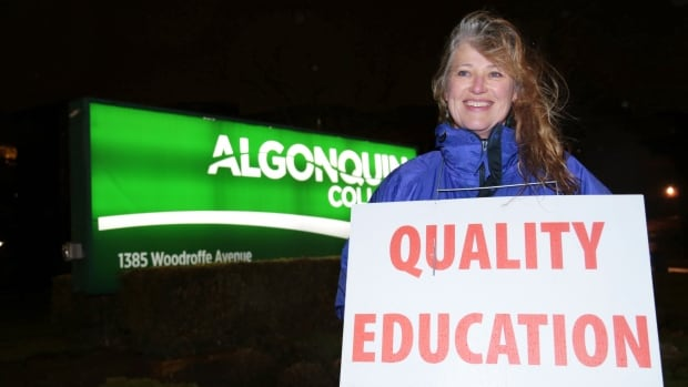 Adele Yamada teaches communications full-time at Algonquin College. She says it's a shame the strike lasted as long as it did while still requiring arbitration.