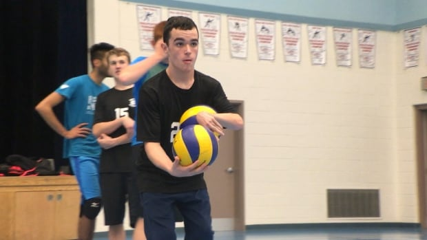 Brett Smith plays on the junior boys volleyball team at Heritage Collegiate in Lethbridge.