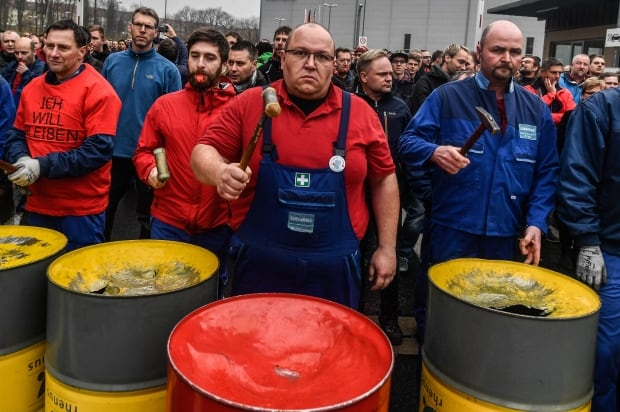 GERMANY SIEMENS workers PROTEST