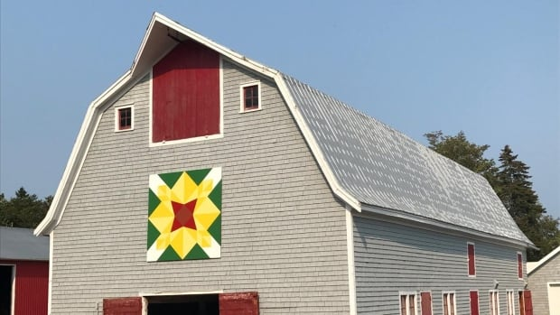 The committee wanted the barn quilts to be visible from the road so people could look for them, similar to a scavenger hunt.