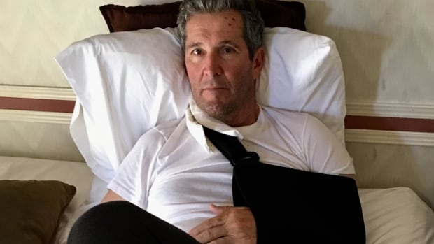 Manitoba Premier Brian Pallister was left with multiple compound fractures and numerous cuts and bruises after falling while on a hike in New Mexico.