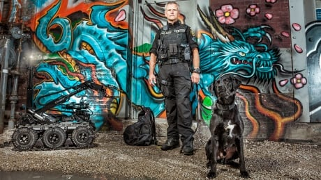 Jester the dog, K-9 Unit sniffer dog