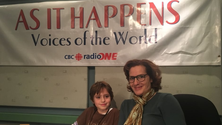 Ivy, 9, hopes to one day be a journalist like As It Happens host Carol Off.