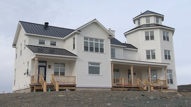 Former Baffin Fisheries Coalition CEO Garth Reid is accused of building this home in Winterton, N.L., using company money. Reid denies the allegations, and says he was willing and able to pay for the work himself.