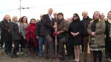 breaking ground on theatre construction site