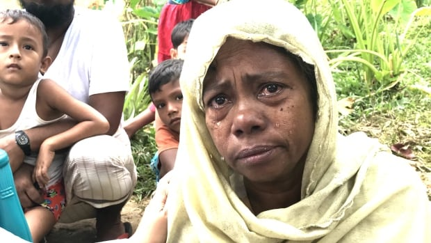 A Rohingya refugee at a camp in southern Bangladesh after fleeing the violence in Myanmar.