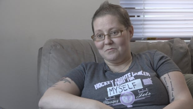 Leslie MacKay, 36, finsihed chemotherapy in August and had a double mastectomy in October.