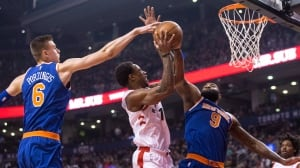 Raptors prove unicorns don't exist, beat up on Porzingis' Knicks