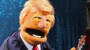 Political parody using puppets