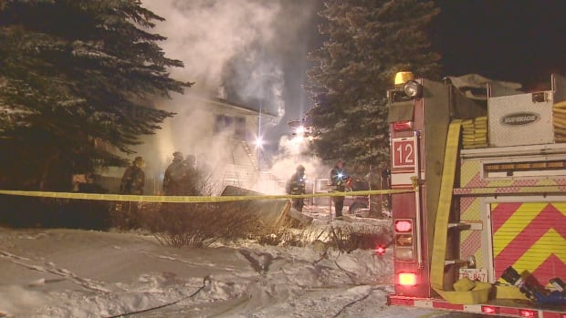 Firefighters were called to a home in the 100 block of Penbrooke Close S.E. just before 5 p.m.