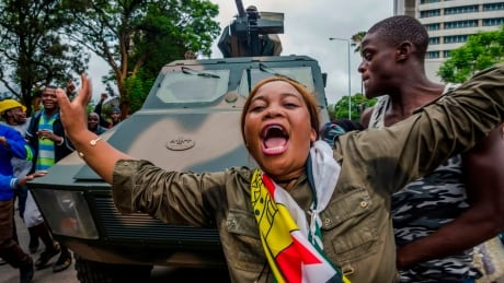 Zimbabwe march cheers military move to oust Mugabe