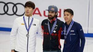 Charles Hamelin golden at short track World Cup