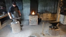 joshua van noy blacksmith shop hammond ontario