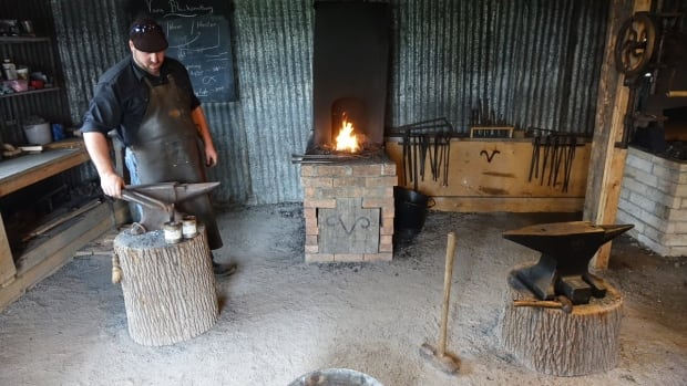 Joshua Van Noy forges metal inside his blacksmith shop in Hammond, Ont. He recently spoke to CBC Radio's In Town and Out about why he's keeping the ancient practice alive.