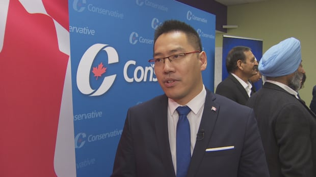 Dasong Zou, a banking professional, is running for late MP Arnold Chan's seat in the Scarborough-Agincourt riding.