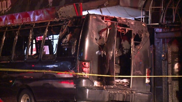 SILVERSTAR LIMOUSINE PARTY BUS FIRE DOWNTOWN VANCOUVER