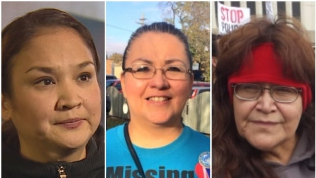 Delores Stevenson (left), Darlene Okemaysim-Sicotte (centre), and Diane Bigeagle (right) will be attending the community hearings for the national inquiry into missing and murdered Indigenous women, which arrives in Saskatoon this week.
