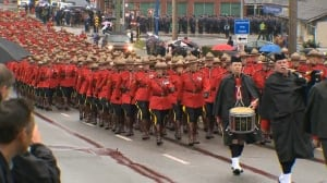 Full regimental funeral underway for Const. John Davidson in Abbotsford, B.C., today