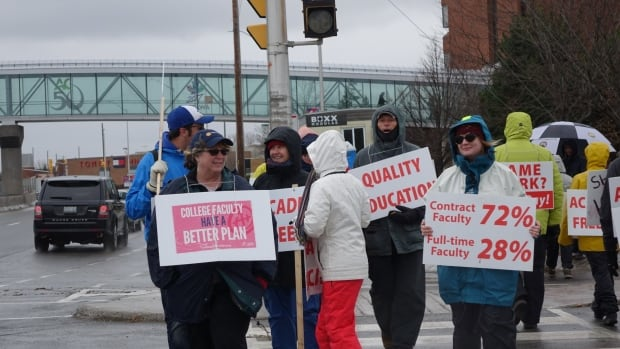 Striking college teachers forced back to work