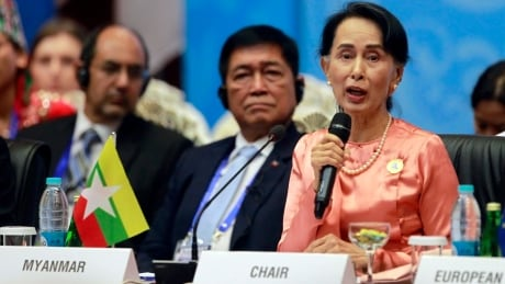Amid Rohingya exodus, Suu Kyi blames world conflicts partly on illegal immigration
