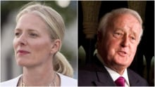 Former prime minister Brian Mulroney and Environment Minister Catherine McKenna