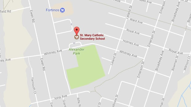 Police are searching for a bomb at St. Mary's Catholic Secondary School.