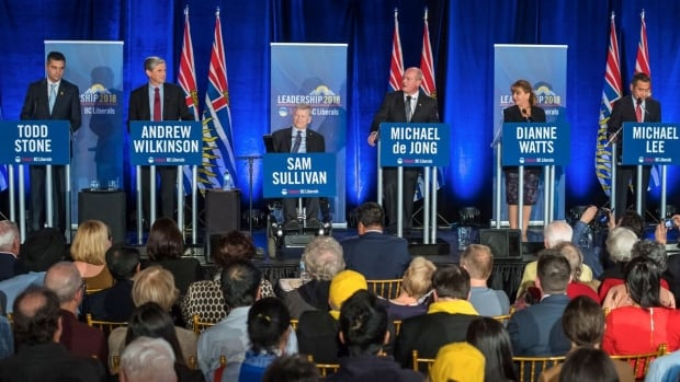 Candidates vying to replace Christy Clark as leader of the B.C. Liberal Party held a debate last night in Nanaimo.
