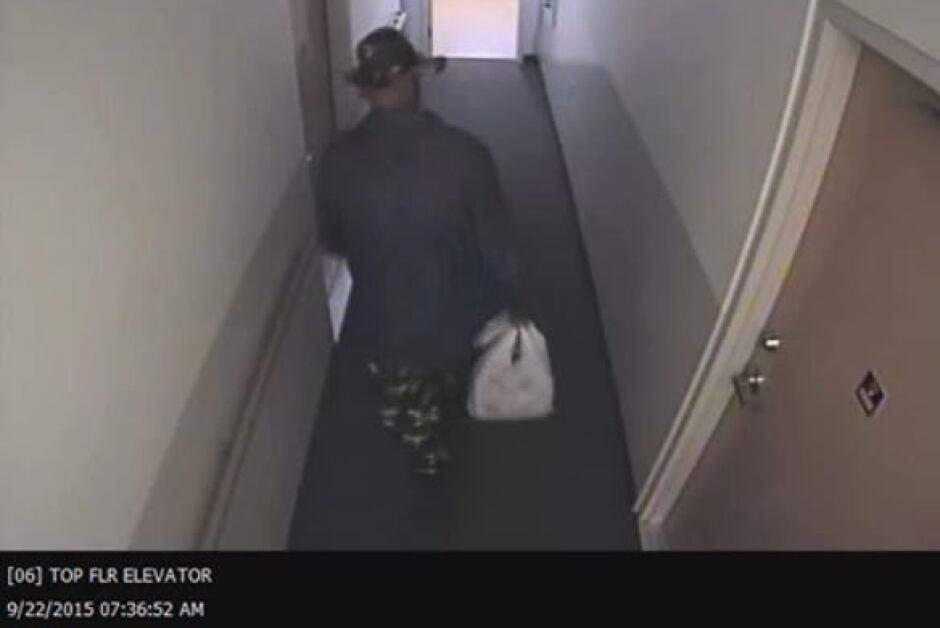 Basil Borutski leaves apartment Palmer Rapids