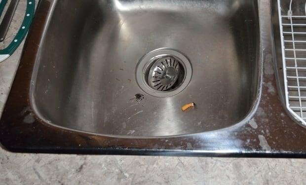 Basil Borutski cigarette Carol Culleton sink