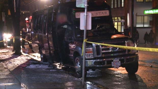 silver star limo vancouver party bus fire