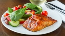 Maple tamarind glazed salmon