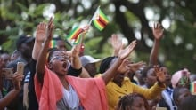 Women at prayer rally in Harare