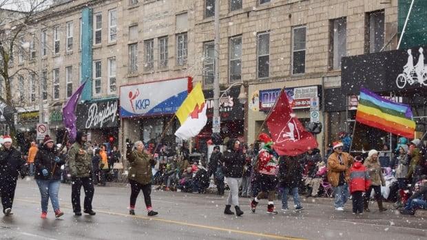 Flags Guelph Santa Claus Parade