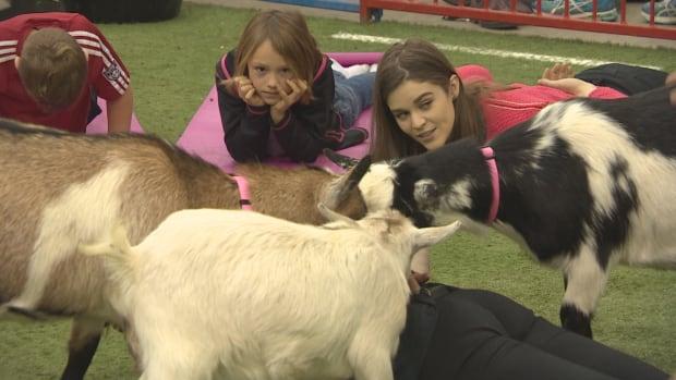 Regina goat yoga