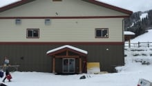 Rear entrance to the new Sun Peaks Health Centre