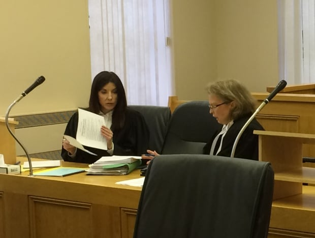 Defence lawyer Tammy Drover and Crown attorney Dana Sullivan