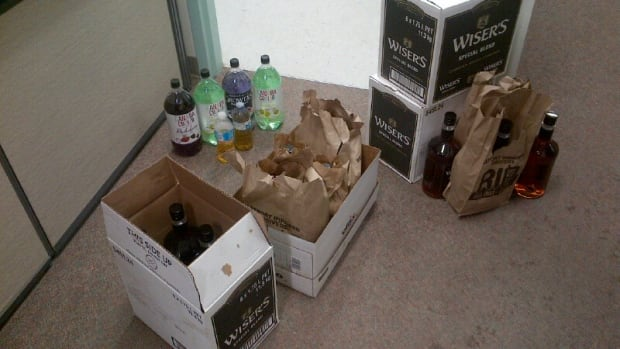According to RCMP, the alcohol pictured would've been resold for about $13,000.
